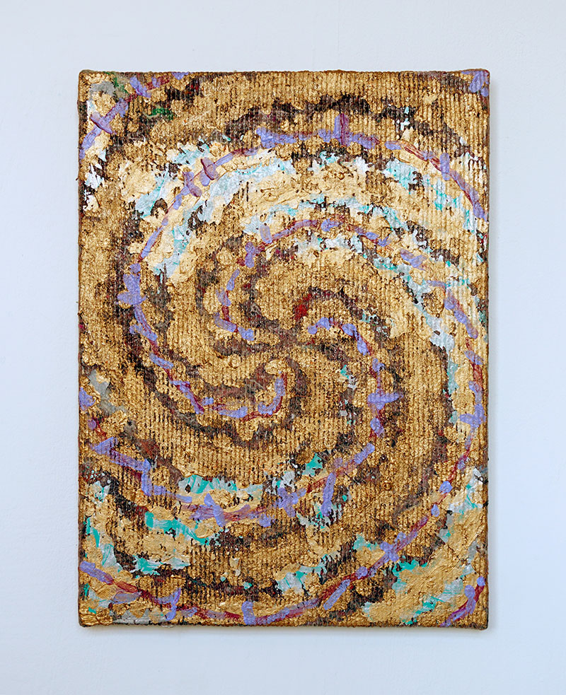 Jonathan Kelly - Spiral 2 - Acrylic on packing blanket - 47x35cm.jpg